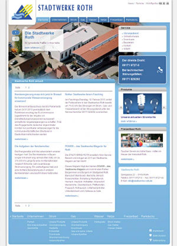 Stadtwerke Roth mit neuer Website