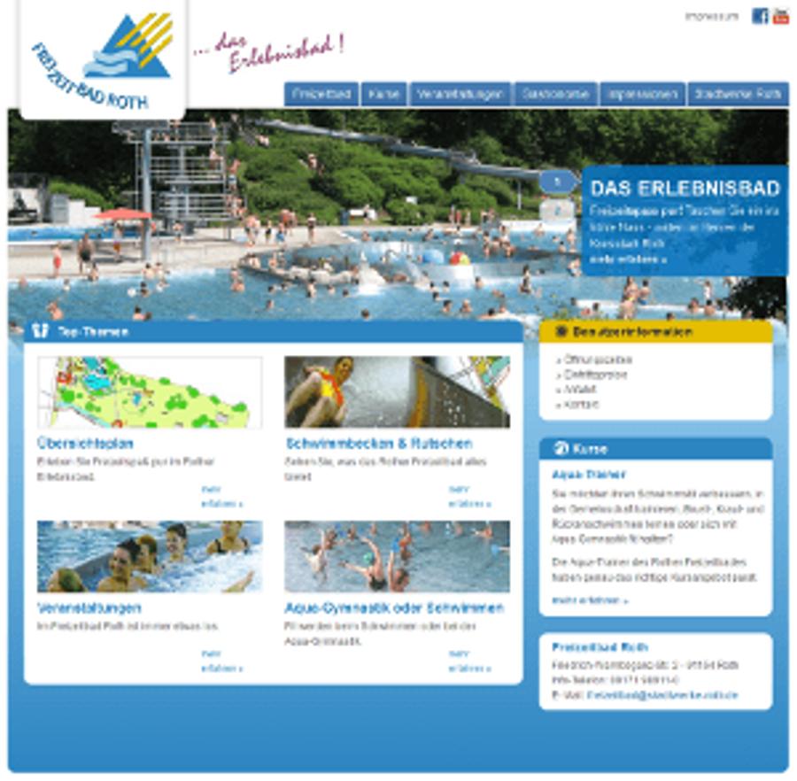 Freizeitbad Roth präsentiert sich neu im Web