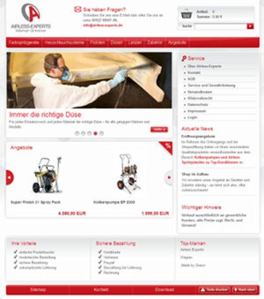B2B-Shop für Airless-Experts