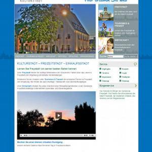 Die Website von Freystadt war gestalterisches Vorbild.