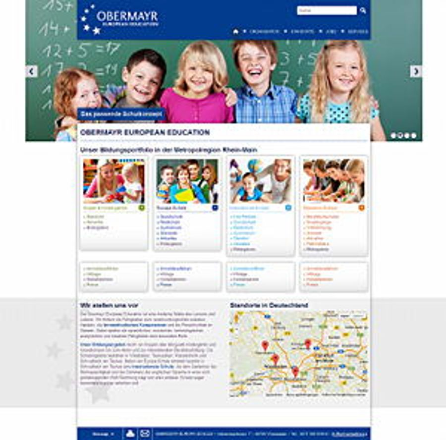 Obermayr European Education: Frischer Look im Responsive Design