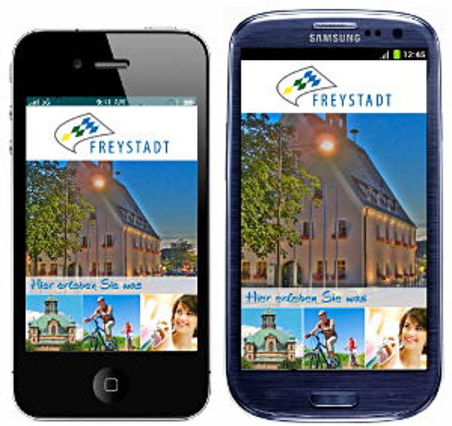 Freystadt-App: Kommune wird mobil
