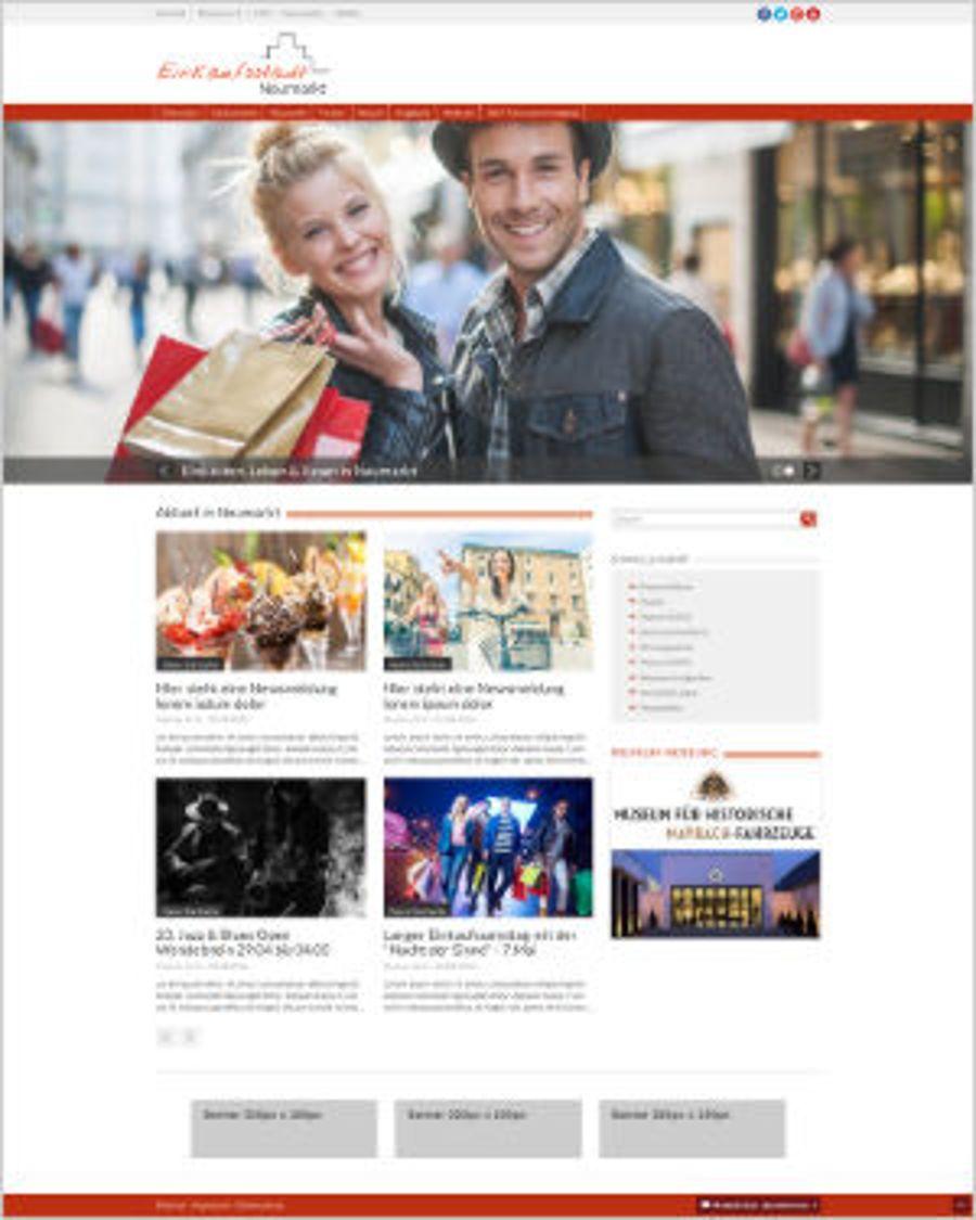 Interaktiver Einkaufsführer für Neumarkt