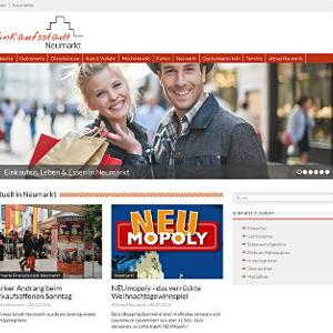 Mit dem neuen Portal präsentiert sich die Einkaufsstadt Neumarkt