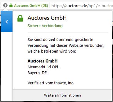SSL-Verschlüsselung | auctores – Ihr Partner für Software & Crossmedia.