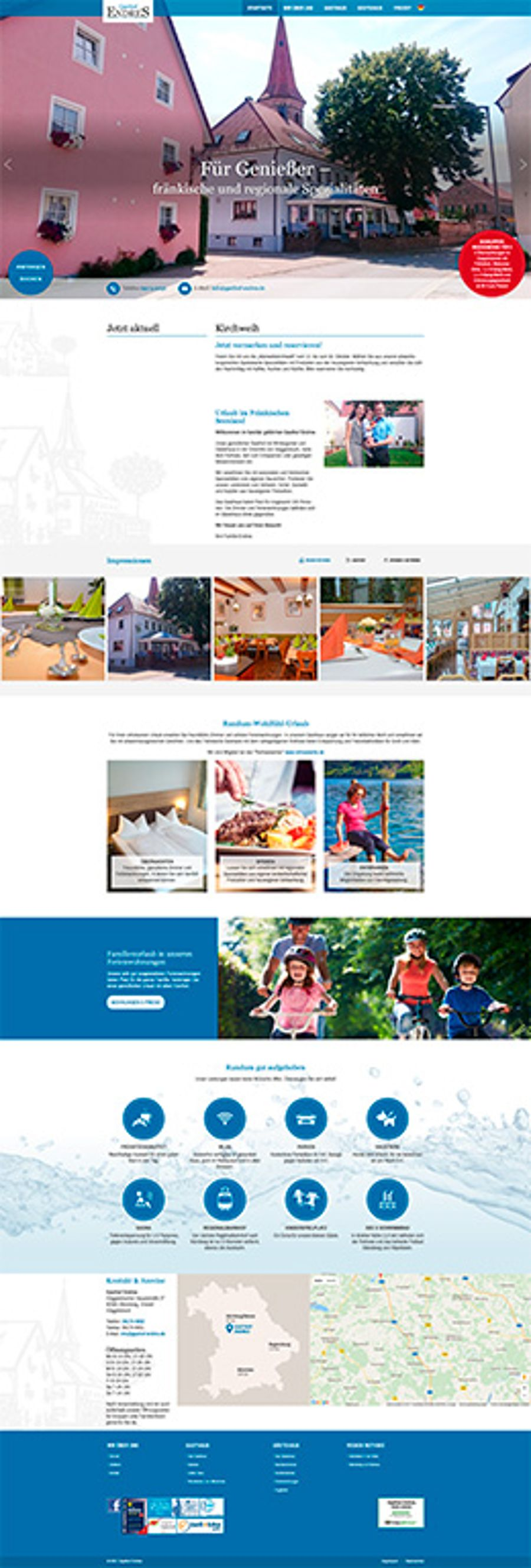 Traditionsreicher Gasthof modern im Web