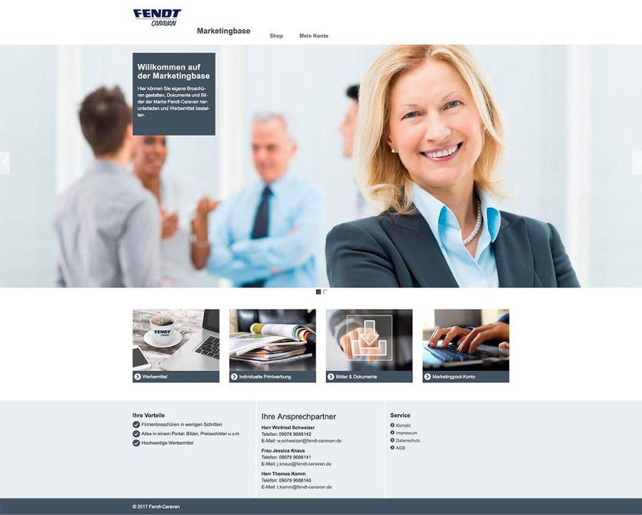Marketingbase für die Vertriebsunterstützung