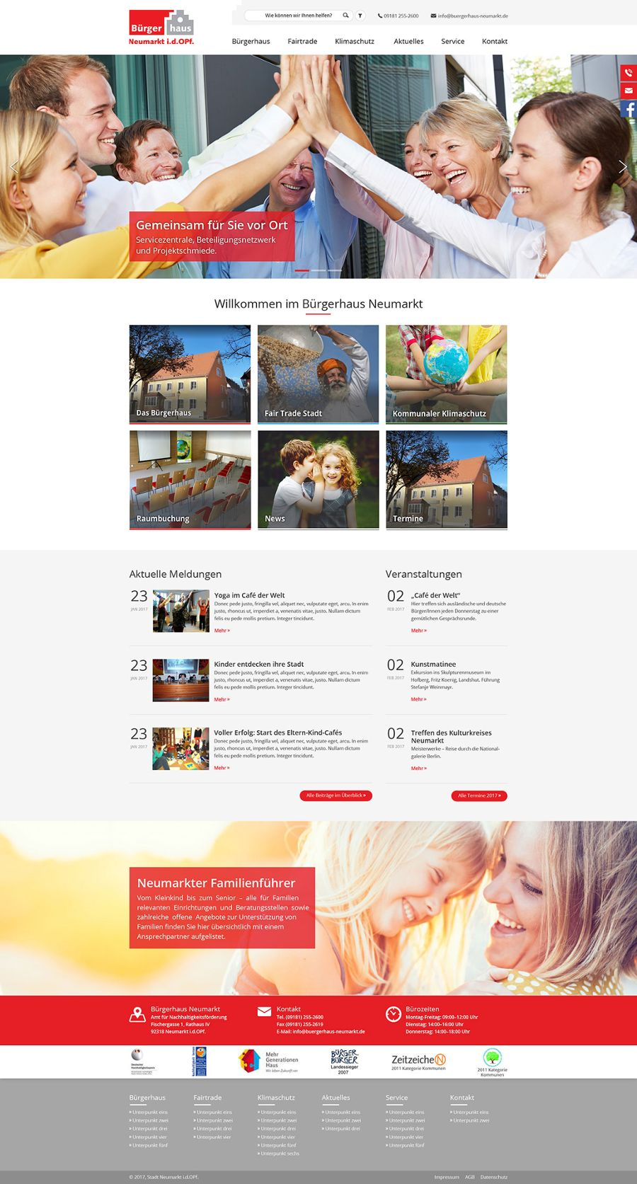 Bürgerhaus Neumarkt – Online-Umbau fertiggestellt