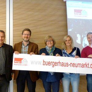 Buergerhaus Neumarkt Relaunch 2017 - das Projektteam (Foto: Stadt Neumarkt)