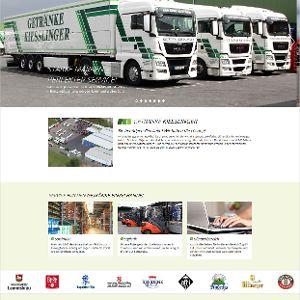 Klar gegliederte Geschäftsbereiche auf der Website
