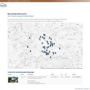 Interaktive Karten – hier die Übersicht, wo gerade ein FischerHaus entsteht