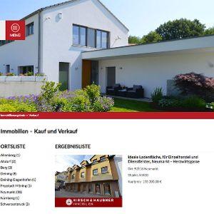 Übersichtlich und informativ: Kirsch & Haubner Immobilienangebote