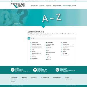 Die Themennavigation A-Z ermöglicht eine übersichtliche Ansicht der vorhandenen Inhalte