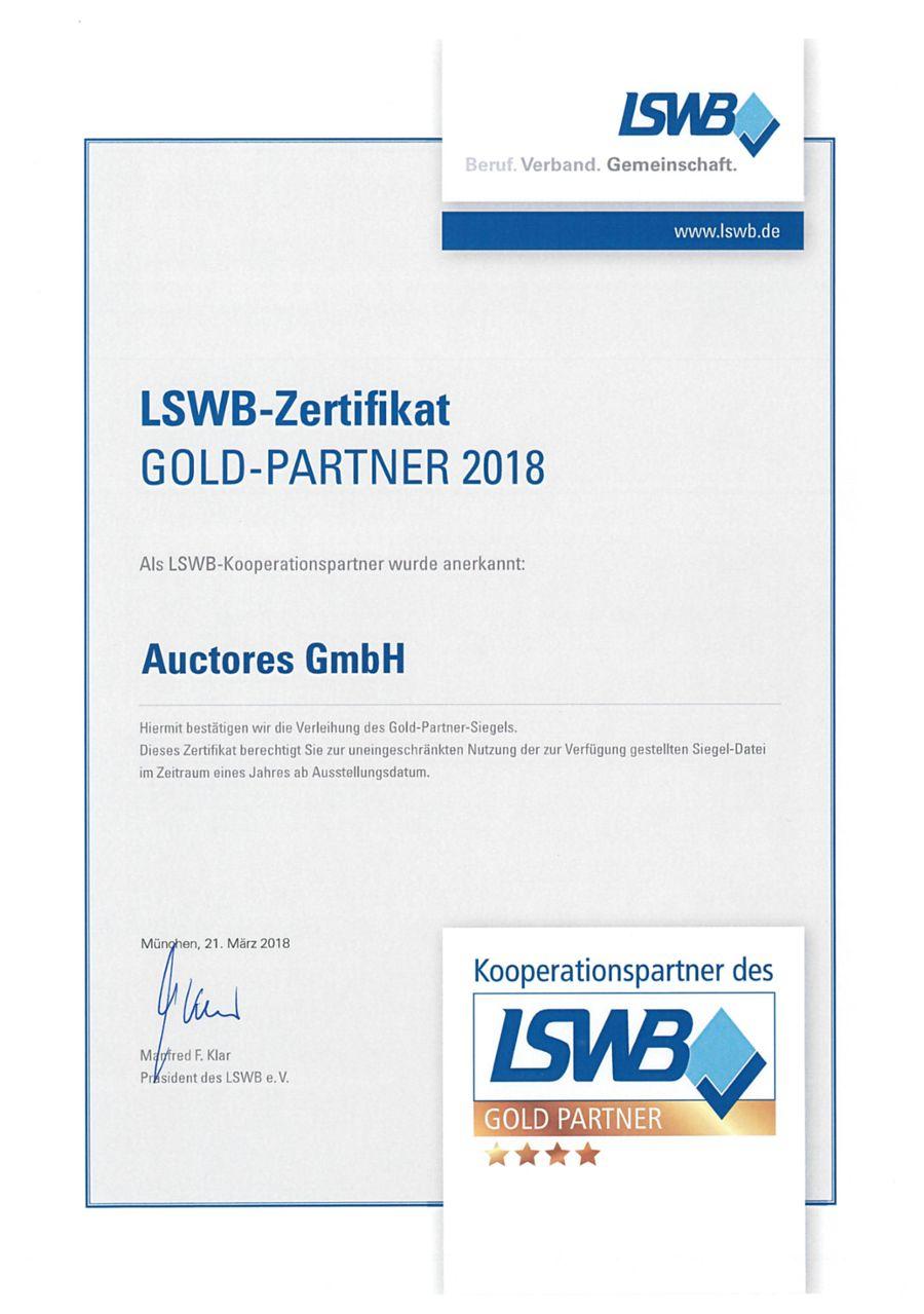 LSWB-Partner-Urkunde