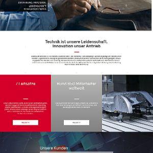 Die neue Website setzt für die Außenwirkung auf großformatige  Bilder