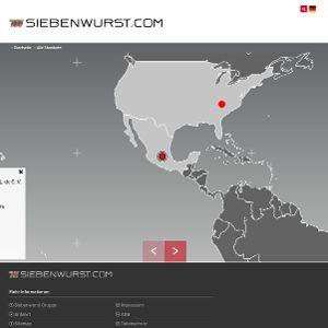 Die interaktive Karte präsentiert alle Standorte der Unternehmensgruppe Siebenwurst
