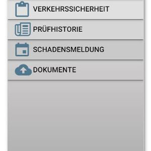 Unterwegs alles im Blick: MPM App Menü