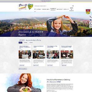 Die neue Website bietet den Deininger Bürgern zusätzliche Services.