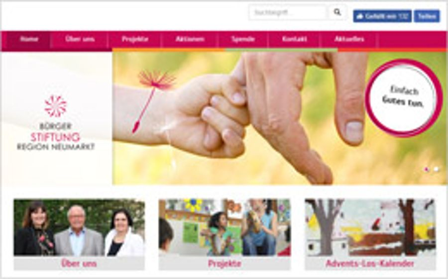 Auctores sponsert die Technik der Bürgerstiftungs-Website