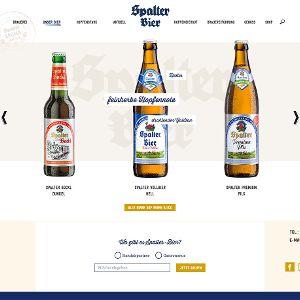 Der Produktslider stellt alle Biersorten vor