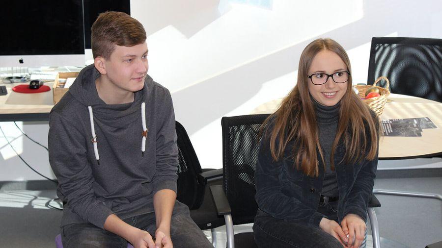 Schülerinnen und Schüler des WGG Neumarkt haben bei Auctores erste Einblicke in die Arbeitswelt gewonnen