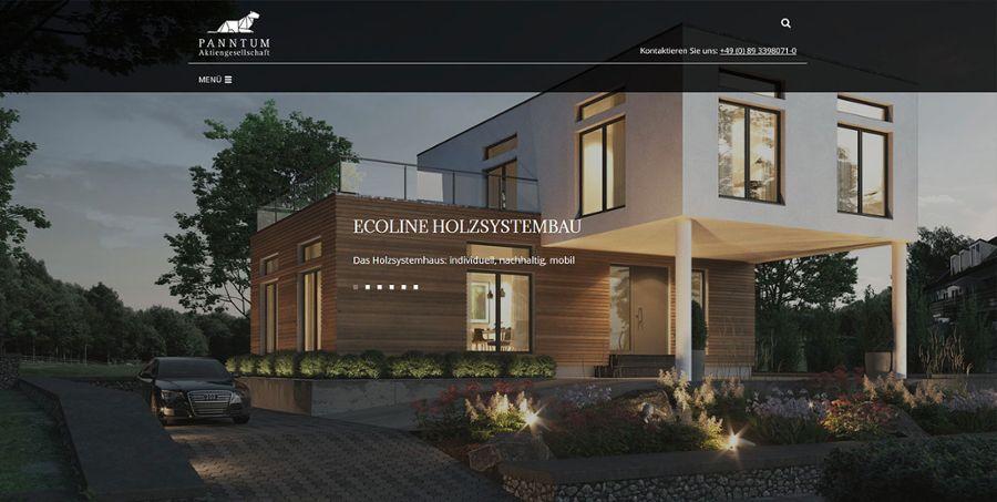 Die neue Website der Panntum AG
