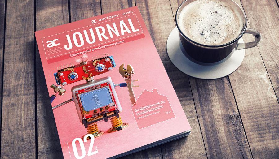 Auctores Journal 02/2019 mit dem Schwerpunkt: Die Immobilienbranche wird digital. Bild: Alex Veresovich/shutterstock
