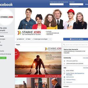 """Der neue Facebook-Kanal für """"Starke Jobs"""""""