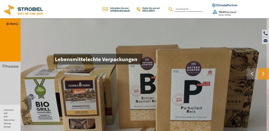 Frisch ausgepackt: Strobel AG im WWW
