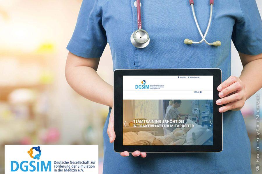 Fürsprecher für Patientensicherheit: Relaunch für die DGSiM e. V.