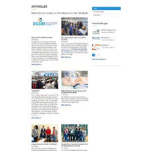 Die News sind ein Schritt zu mehr öffentlicher Präsenz der DGSiM.