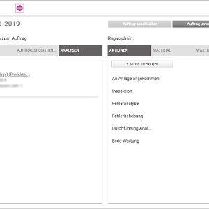Auf dem Tablet: Auftragsdetails und Regieschein