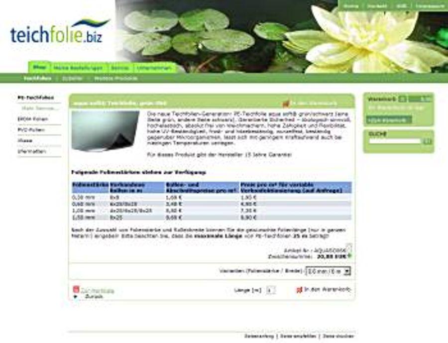Folie und Tipps für den Teichbau bei www.teichfolie.biz