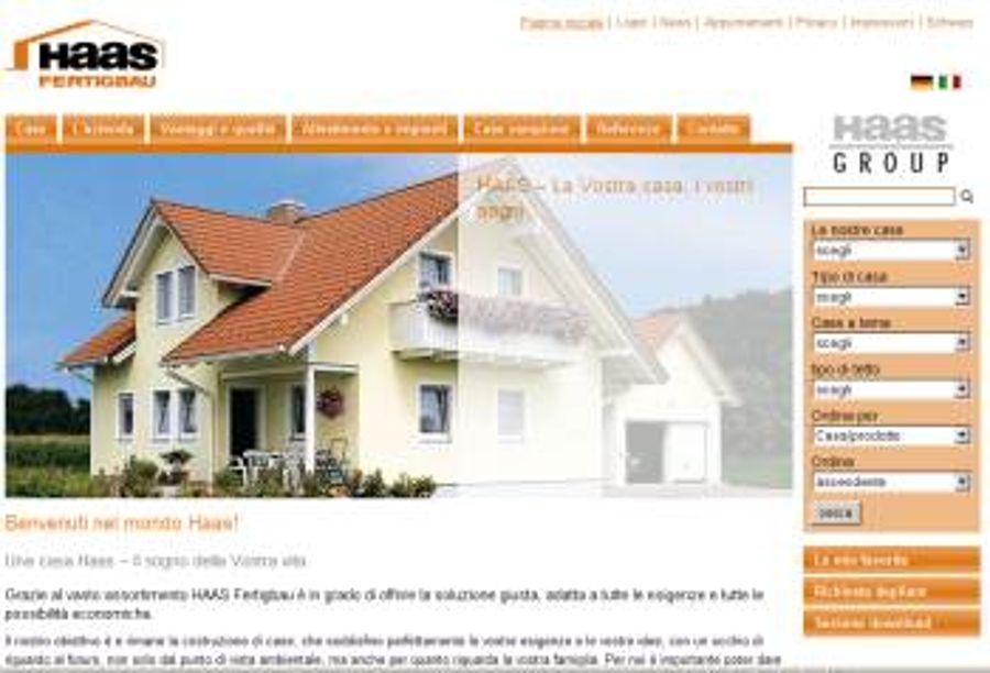 Haas Fertigbau Italien geht online