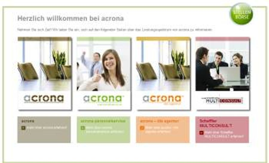 acrona in Weiden mit neuem Kommunikationskonzept