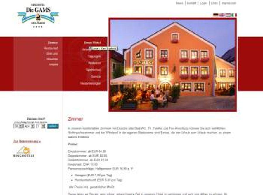 Hotel Gams erhält neuen Internetauftritt