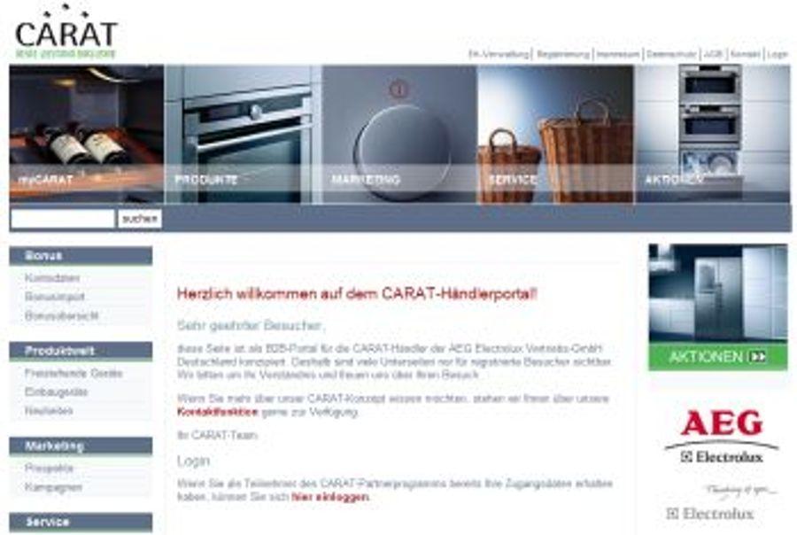 AEG Electrolux präsentiert Relaunch ihres CARAT-Portals auf der IFA