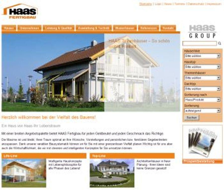 Haas Fertighaus mit neuem Design