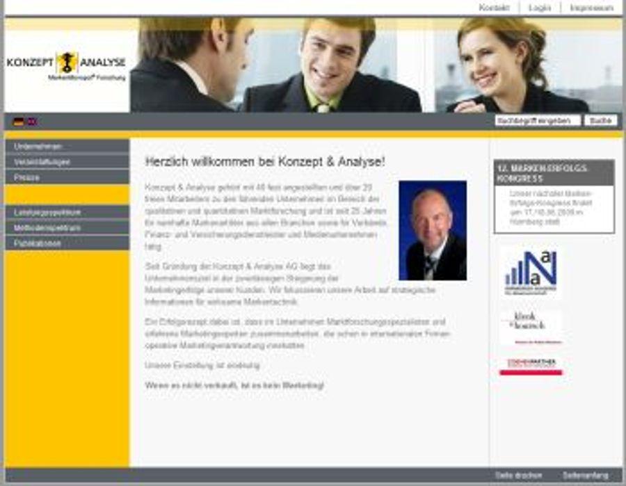 Nürnberger Marktforscher Konzept & Analyse mit neuem Auftritt
