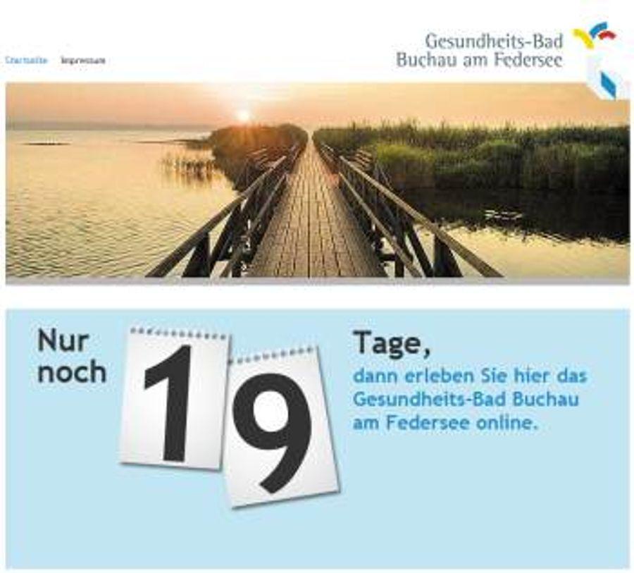 Gesundheitsbad.de mit Countdown