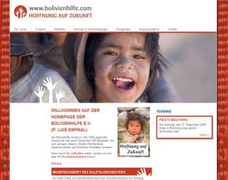 Bolivienhilfe.com geht mit neuem Corporate Design online