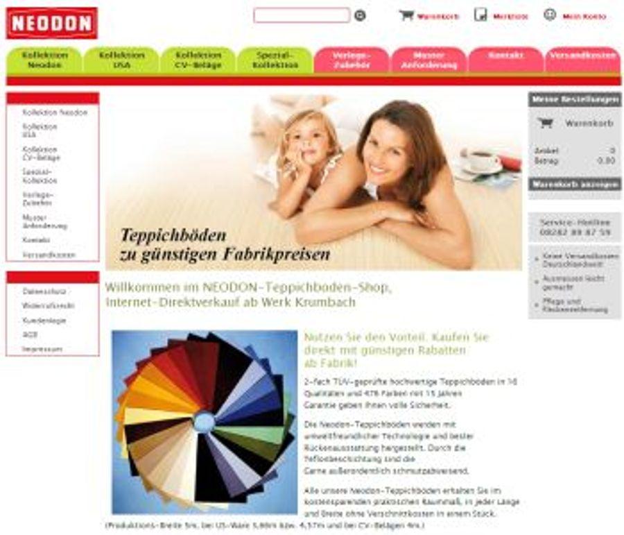 Neodon geht mit Teppichbodenshop.net online
