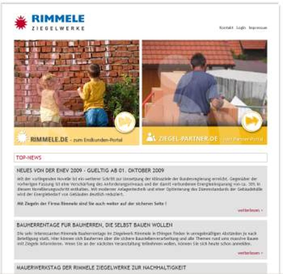 Rimmele Ziegelwerke in Ehingen gehen online