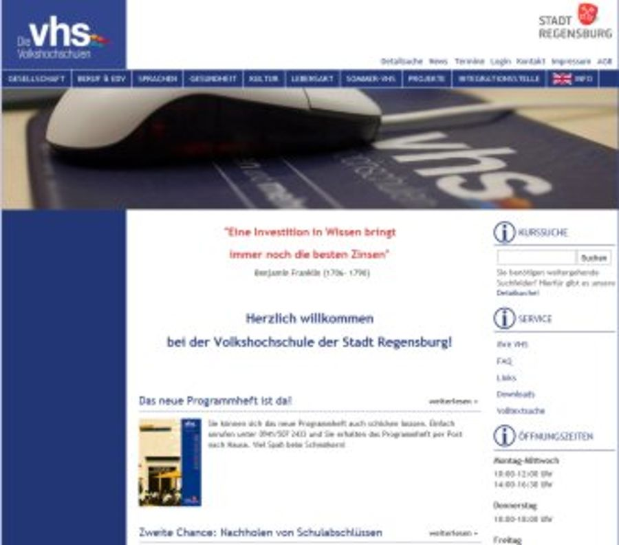 VHS-Regensburg erstrahlt in neuem, frischem Design