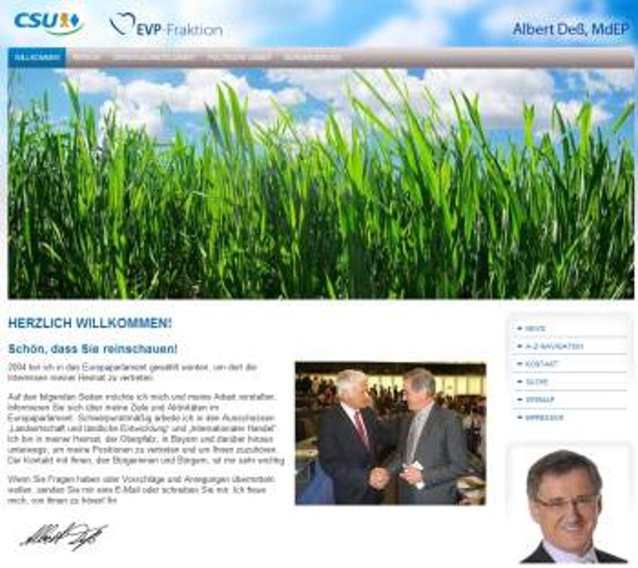 Albert Dess MdEP mit neuem Internetkonzept