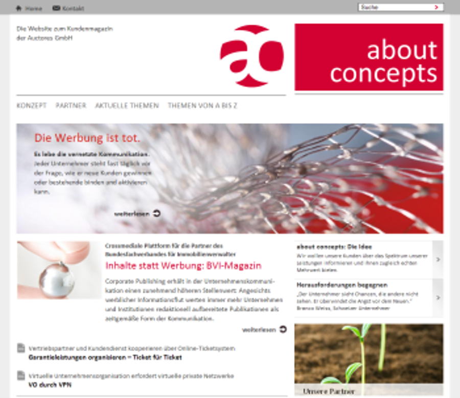 about-concepts.de Kundenmagazin crossmedial