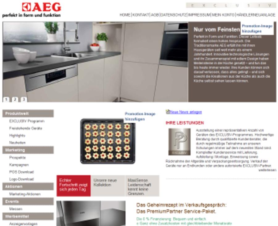 AEG Exclusiv geht online