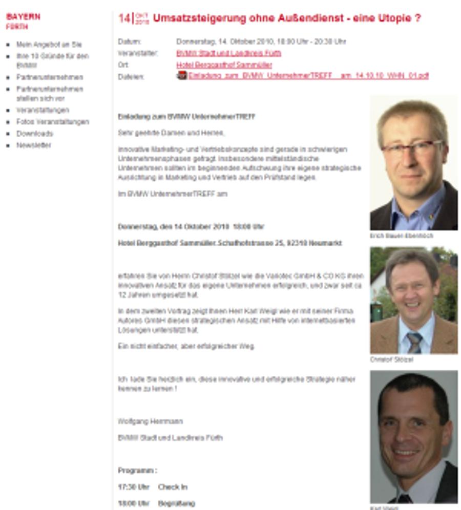 Vortrag beim Bundesverband mittelständische Wirtschaft (BVMW)