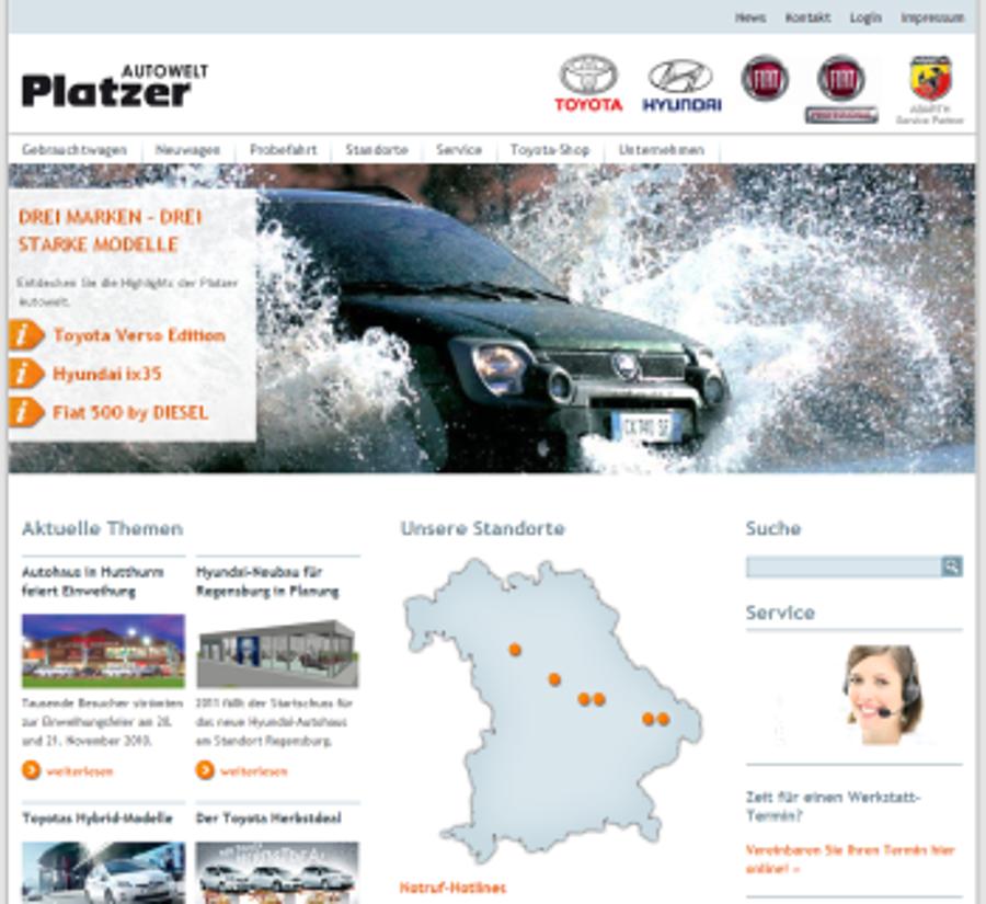 Platzer Autowelt geht online