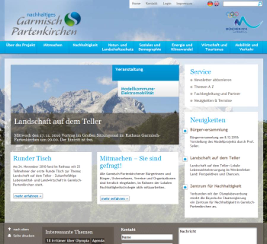 """Projektauftritt """"Nachhaltiges Garmisch-Partenkirchen"""""""